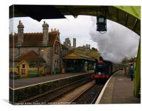 Non-stop through Corfe., Canvas Print