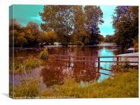 Summer river 2, Canvas Print