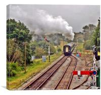 Departing Corfe  2, Canvas Print