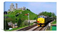 Diesel Into Corfe, Canvas Print