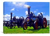 traction engines, Canvas Print