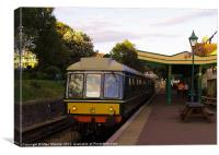 Heritage DMU at Swanage, Canvas Print