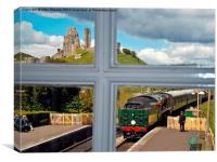 View from the signal box, Canvas Print