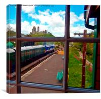 View from the signal box 2, Canvas Print