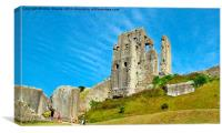 Corfe Castle, Canvas Print
