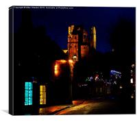 Corfe Castle at night, Canvas Print