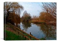 The Dorset Stour., Canvas Print