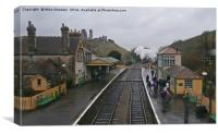 Wet Day at Corfe Castle, Canvas Print