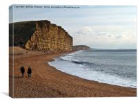 East Cliff, West Bay, Canvas Print
