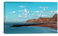 West Bay in Dorset., Canvas Print