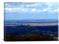 Corfe Castle and beyond., Canvas Print