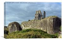 Corfe Castle in October, Canvas Print