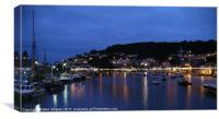 Night-time Looe, Canvas Print