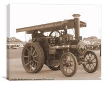 Burrell Traction Engine, Canvas Print