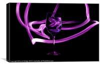 Glass with Purple Swirl, Canvas Print