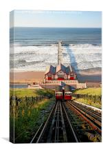 Saltburn Cliff Lift, Canvas Print