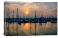 Moody Whispy Morning , Canvas Print