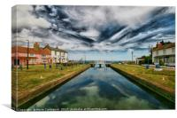 Heybridge Basin Lock, Canvas Print
