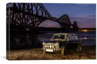 Classic Mini and Forth Rail Bridge, Canvas Print