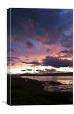 Newport sunset, Canvas Print