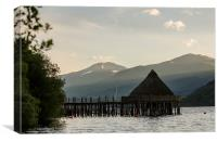 The Crannog on Loch Tay, Kenmore, Canvas Print