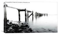 Old Pier at Aberdour, Fife, Scotland, Canvas Print