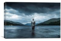 Still Man, Loch Earn, Canvas Print
