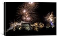 Stirling Castle Hogmanay Fireworks, Canvas Print