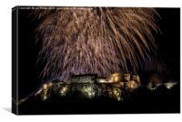 Stirling Castle Hogmanay firework finale, Canvas Print