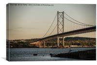 The Forth Road Bridge, Scotland, Canvas Print