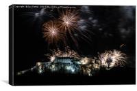 Stirling Castle Firework Hogmanay, Canvas Print