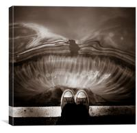 Foot lock, Canvas Print