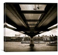 Man on Bridge, Canvas Print
