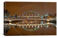 Tyne Bridges, Newcastle Upon Tyne, Canvas Print