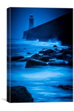 Beacon in the Darkness (Colour), Canvas Print