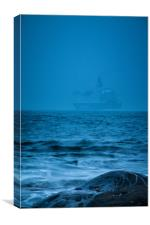 Tyneside Ghost Ship, Canvas Print