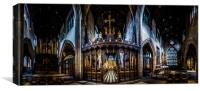 Newcastle Cathedral Panorama 2, Canvas Print