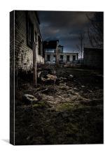 Derelict Factory, Canvas Print