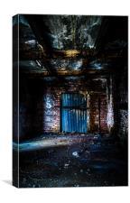 Derelict Factory Door 2, Canvas Print