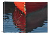 Red Bow Reflection, Canvas Print