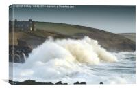 Stormy Seas in Cornwall, Canvas Print