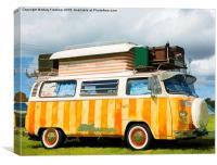 Colourful VW, Canvas Print