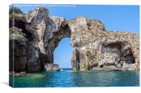 Sphacteria Rock, Bay of Navarino, Greece, Canvas Print