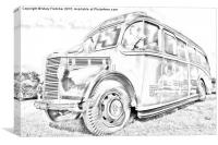 Old Fashioned Bus, Canvas Print