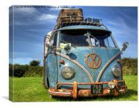VW Campervan, Canvas Print