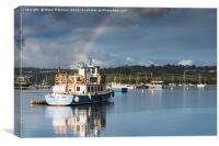 Penryn Harbour, Cornwall, Canvas Print