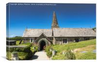 St Enodoc Church, Trebetherick, Canvas Print