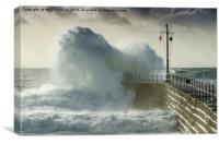 Wave at Porthleven, Canvas Print
