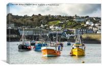 Mevagissey Harbour, Cornwall, Canvas Print