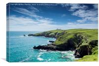 The Lizard Peninsular, Cornwall, Canvas Print